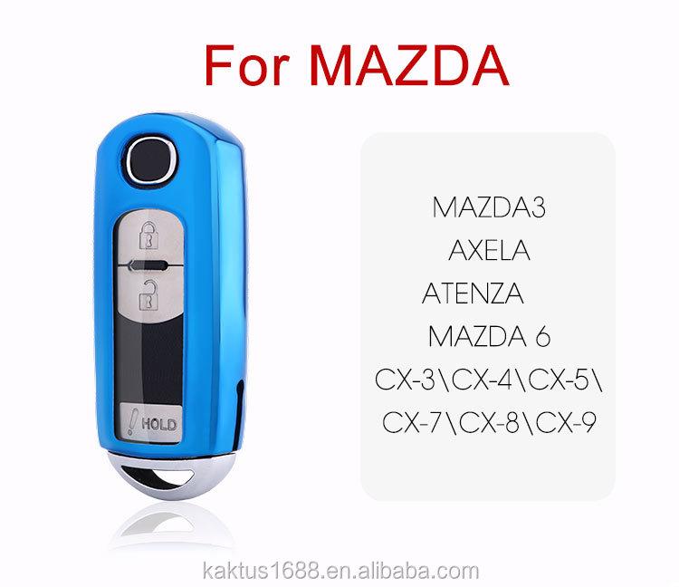 For Mazda Mazda3 Axela ATENZA Mazda 6 CX-3CX-4CX-5CX-7CX-8CX-9 Car Key Case TPU protect Cover Carkey shell