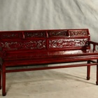 Antique vintage rustic china style furniture solid wod living room Sofa