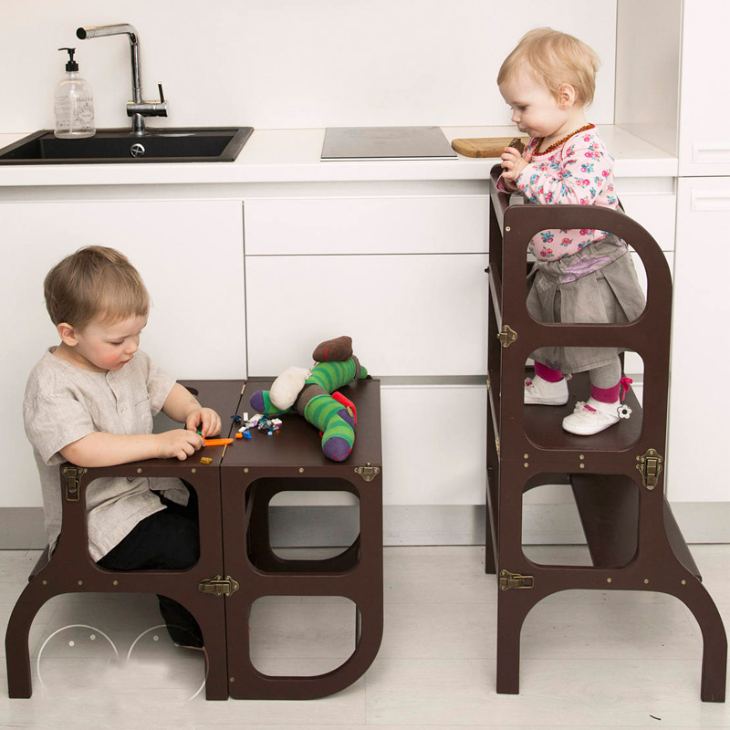 Kitchen Helper Bamboo Wood Foldable Toddler Kitchen Step Stool Tower For Little Chef Buy Step Stool Kitchen Helper Toddler Step Stool Product On Alibaba Com