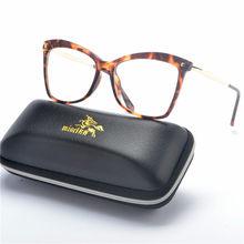 Новые кошачьи женские очки Роскошная брендовая прозрачная оправа Женская оправа для очков Модные корректирующие очки при близорукости лин...(Китай)