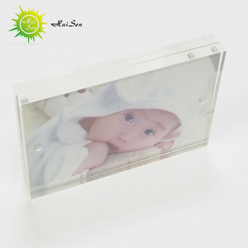 wholesale family A5 A4 elegant crystal acrylic photo frame,desktop clear picture frame
