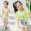 Green 3 pcs bikini set