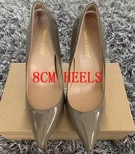 Брендовая обувь женские туфли-лодочки на высоком каблуке 12 см/10 см/8 см Женская обувь на шпильке модельные свадебные туфли на высоком каблук...(China)