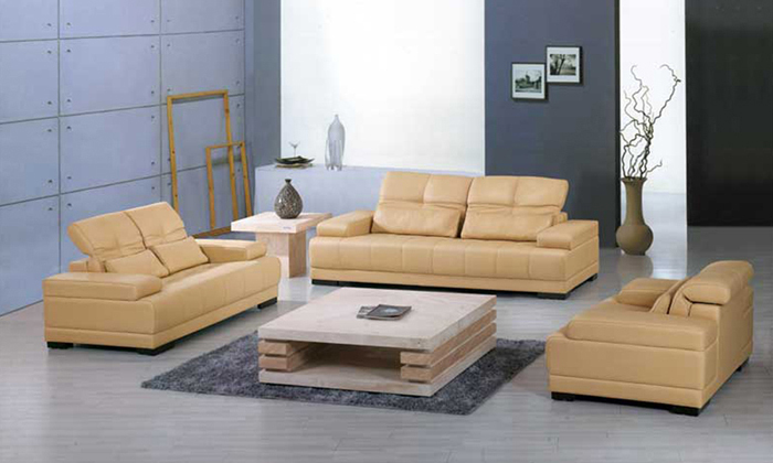Free shipping yellow leather sofa 2013 new design classic - Yellow leather living room furniture ...
