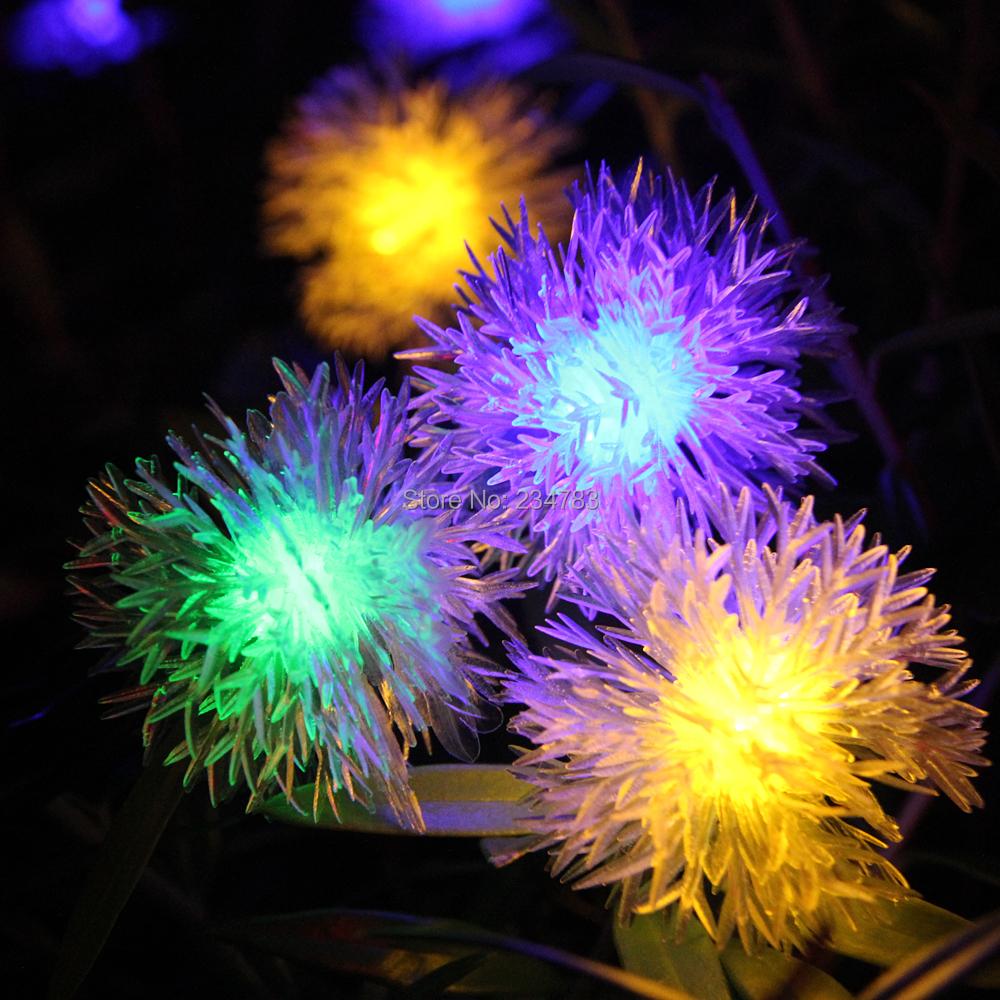 Solar Powered Chuzzle Ball Fairy String Lights 20 Rgb Led