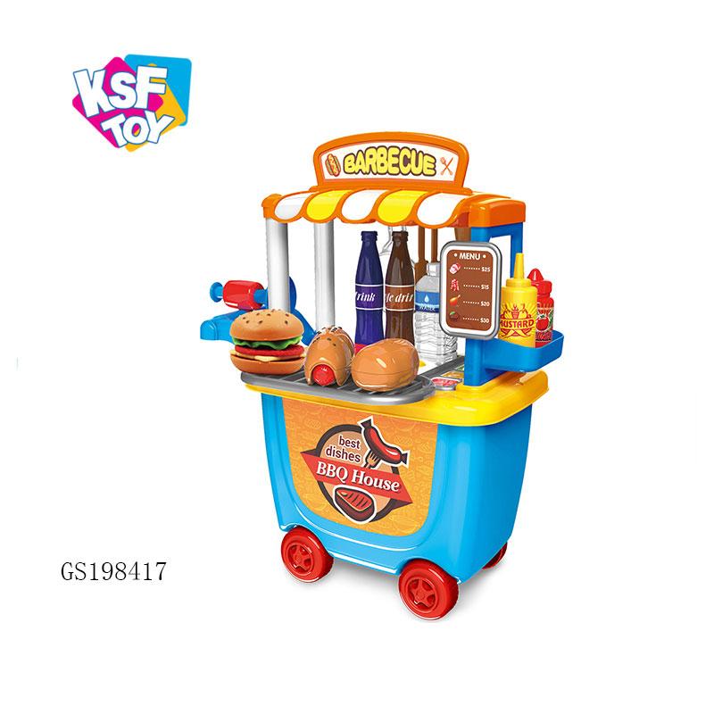 Оптовая продажа, ролевые игрушки, настольные игры для приготовления пищи, барбекю, еды, кухонный игровой набор для детей
