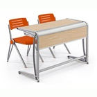 New structure aluminum frame school furniture university table and chair