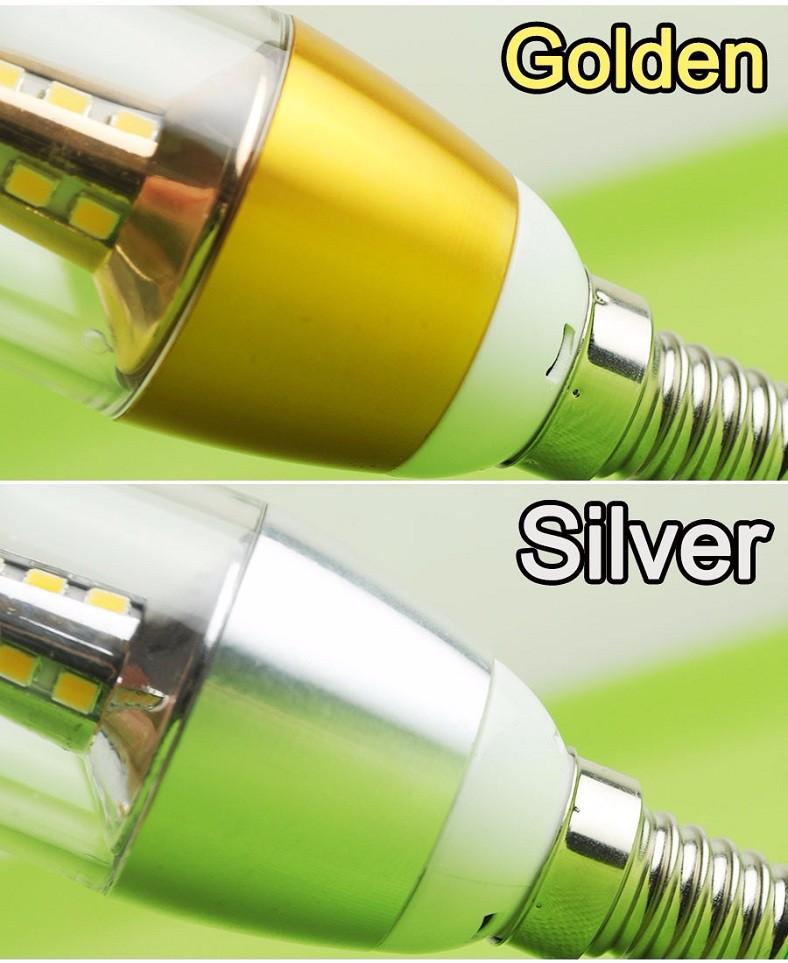 5w Ac110v 220v 2835smd Led Candle Bulb E12 E14 E27 Base