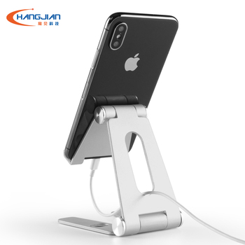 High Quality mini Aluminum alloy mobile phone holder stand foldable flexible metal car holder for iPad Laptop