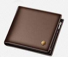 Мужской короткий бумажник LAORENTOU, Черный Повседневный кошелек из натуральной воловьей кожи, с отделениями для карт, 2019(Китай)