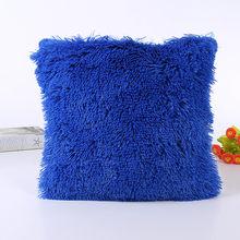 Новая Коричневая подушка, мягкий плюшевый диван из искусственного меха, поясная подушка, наволочка для дивана, автомобильного кресла, отеля...(Китай)