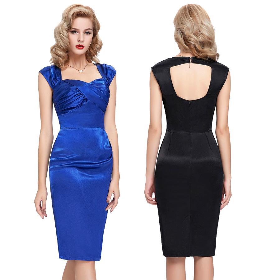0fb745da7 vestidos azules a la rodilla