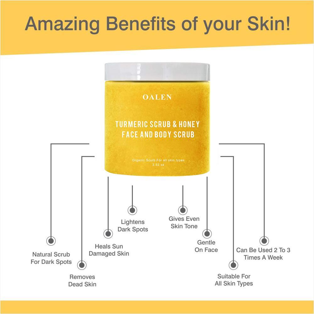 Private Label Organic Brightens And Skin Tone Anti Acne Honey Turmeric Facial Scrub