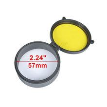 Прозрачная крышка прицела ружья защита 30 мм-69 мм крышка объектива откидная быстро Весенняя крышка желтая крышка объектива для охоты(Китай)