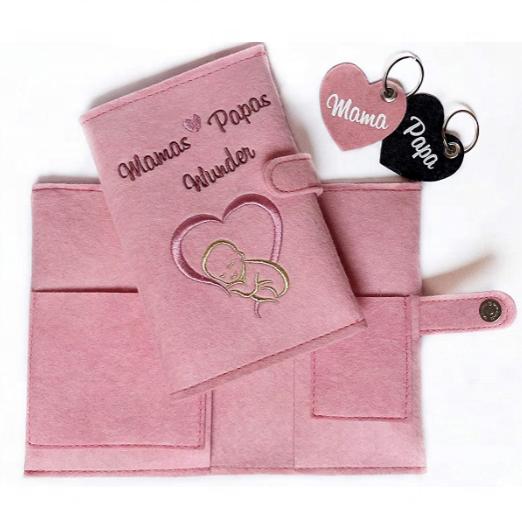 Новый хит продаж, фетровая Обложка для паспорта для мамы, сумка для мамы, Обложка для блокнота, Обложка для ультразвуковых фотографий и мультипроигрывателя