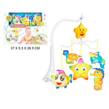 Plush Hanging Bell Toy Bed Toy Bed Plastic ABS New Designs Colorful Animal Crib Mobile Musical Baby for Children HW Toys CN;GUA
