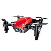 S9 складной мини-Дрон с камерой, карманный Дрон, микро-Дрон, Радиоуправляемый вертолет с HD камерой, удержание высоты, Wi-Fi, FPV Quadcopter Dron(China)