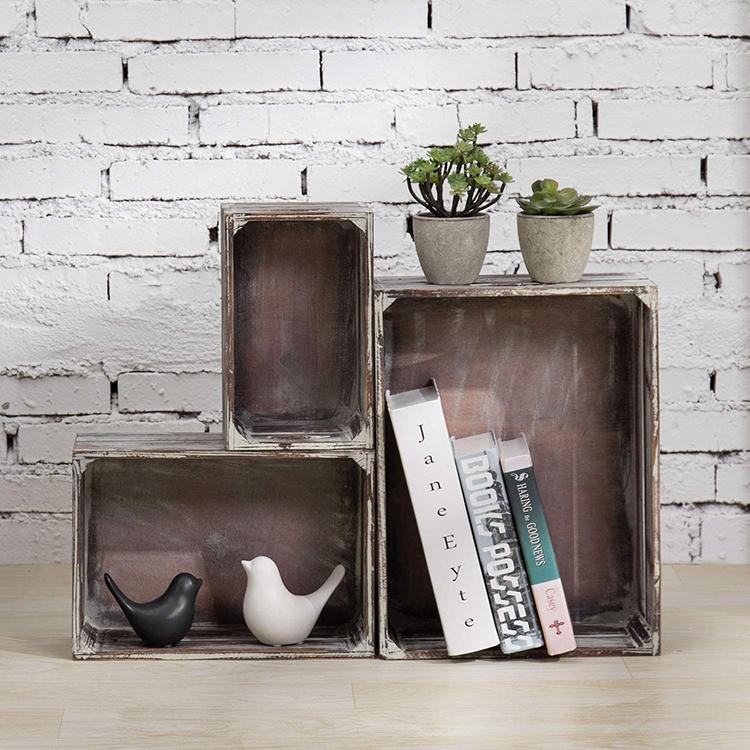 Wooden craft storage box box basket for home decoration wooden storage box rectangular basket