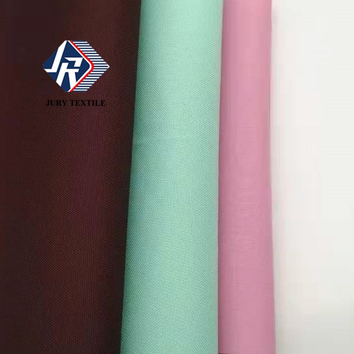 Recycled yarn waterproof PU coated 100 recycled polyester plastic bottle 600D recycled pet recycled bags fabric