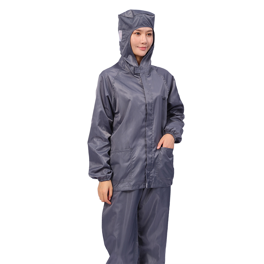 Factory Wholesale ESD Polyester Antistatic Workwear Cleanroom Suit Coverall Smock - KingCare | KingCare.net