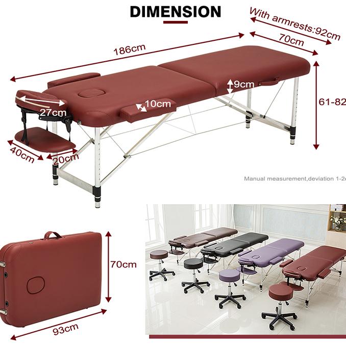 휴대용 마사지 테이블 접이식 테이블 접이식 마사지 침대 초경량