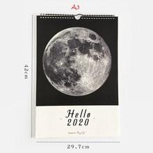 Здравствуйте 2020 креативный лунный календарь, чтобы сделать список, повестка дня, Настенное подвесное оформление календарей, ежедневник, ор...(Китай)