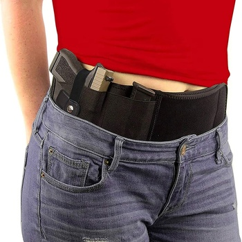 Superior quality tied on the waist womens holster tactical holster belly band gun holster bag for concealed carry