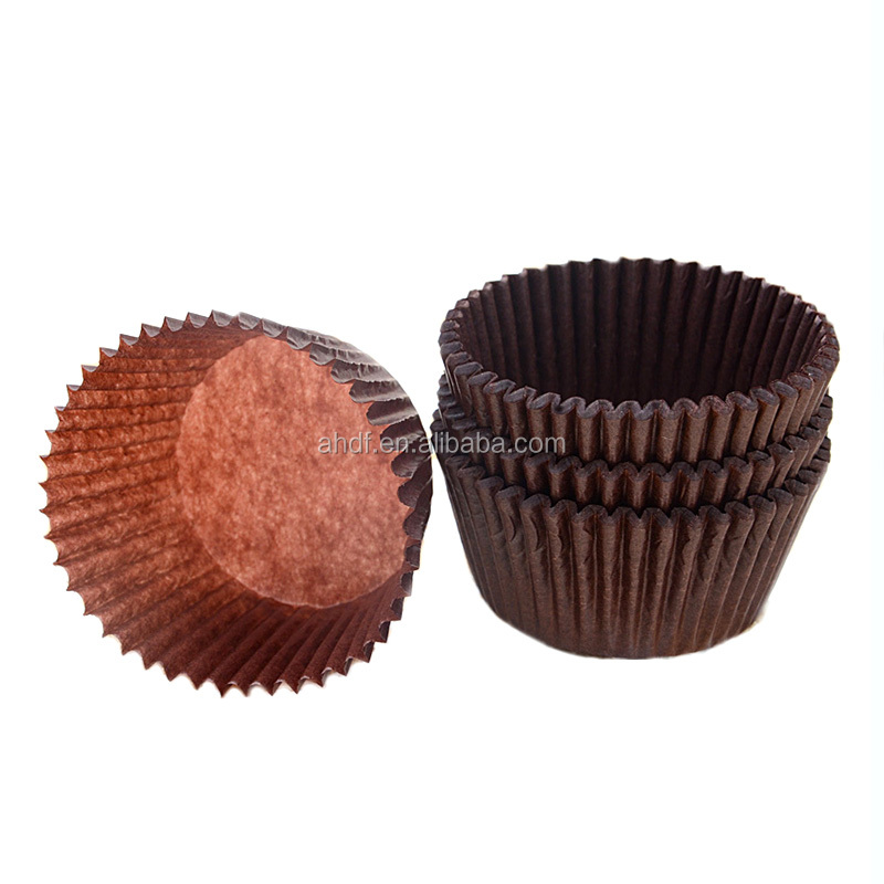 cake balls muffins oil Packing Brown Kraft Food Bags with Window Custom Packaging pure solid color Free Design Cake cup liners