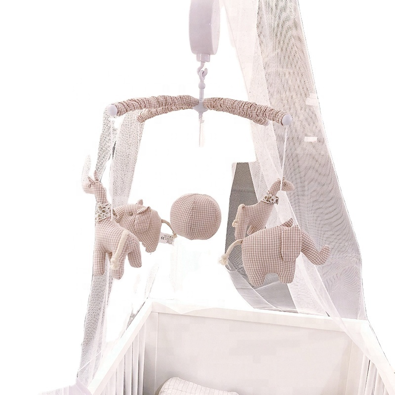 2021 Amazon Hot Selling Cute animal Infant Musical Hanging Rattle Baby Crib Spin Bed Bell Toy