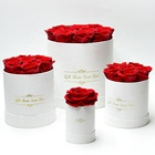 Day BLH Preserved Roses In Round Luxury Gift Box For Birthday Wedding Christmas Valentine Mothers' Day Girlfriend Gift