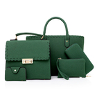 Leather Bag Bags Handbag Concise Design Knit Matte Leather 5 Piece Handbags Lady Women Bag Set