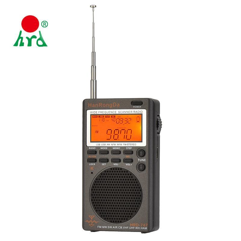 HRD 747 Portable All Band Mini Radio With AM FM SW SSB AIR UHF VHF