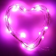 Подвесной светильник на батарейках 2 м с 20 светодиодами, Рождественский праздничный свадебный Декор, светодиодный медный провод, сказочный ...(Китай)
