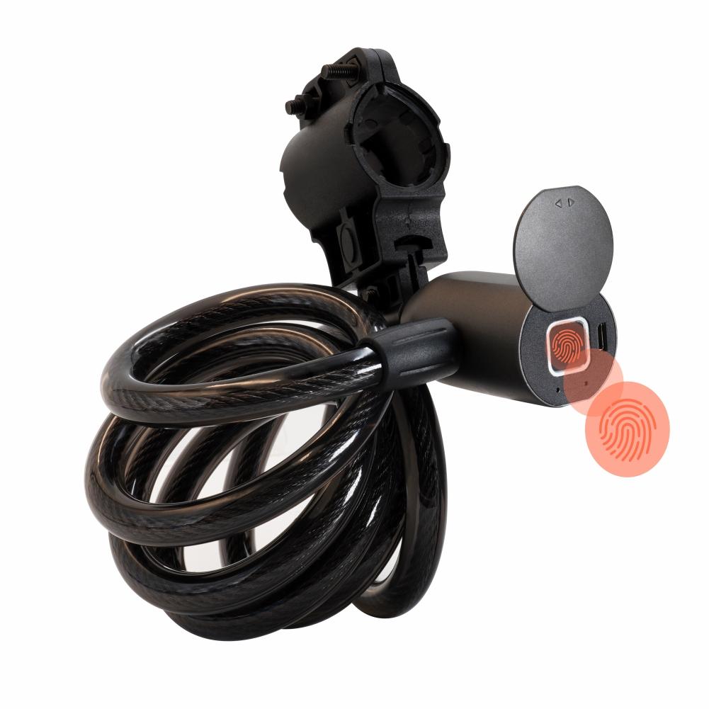 Смарт-замок с управлением через приложение, Противоугонный водонепроницаемый велосипедный замок с кабелем