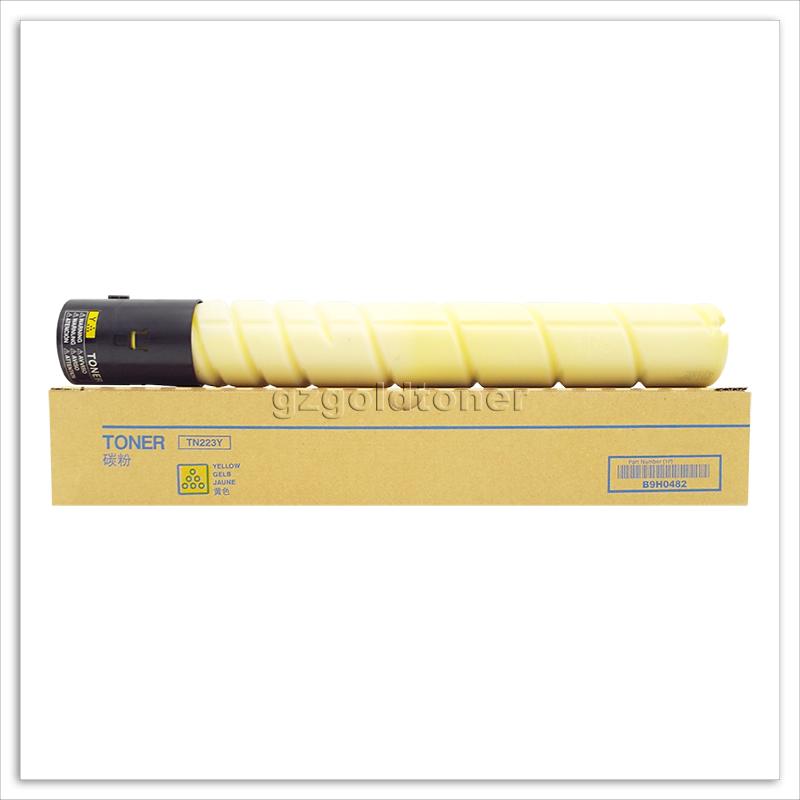 Оптовая продажа с завода, тонер-картридж TN223C TN223M TN223Y для Konica Minolta Bizhub C226 C256 C266 TN223 для цветного копировального аппарата