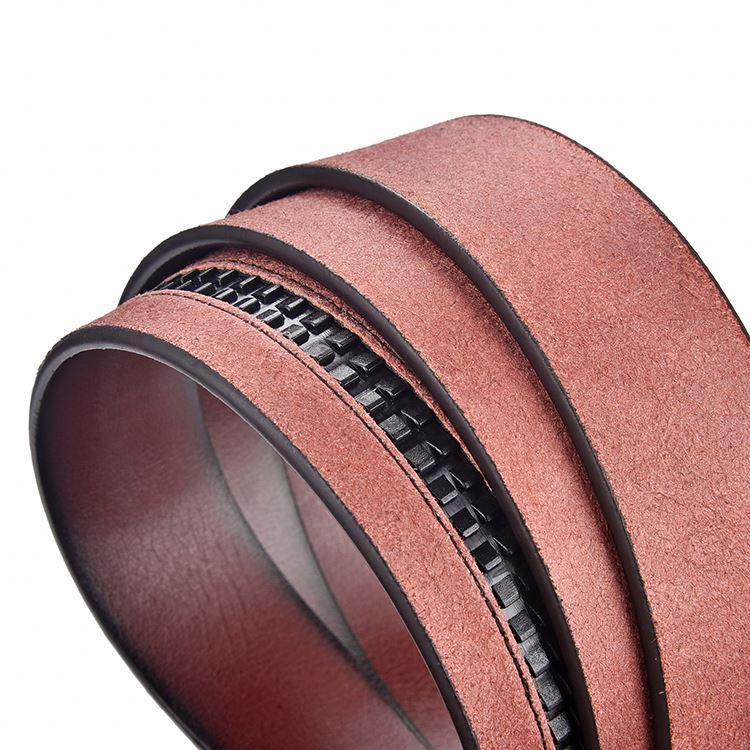 Professional manufacture custom letters buckle belt good quality leather belts men's pin buckle belt