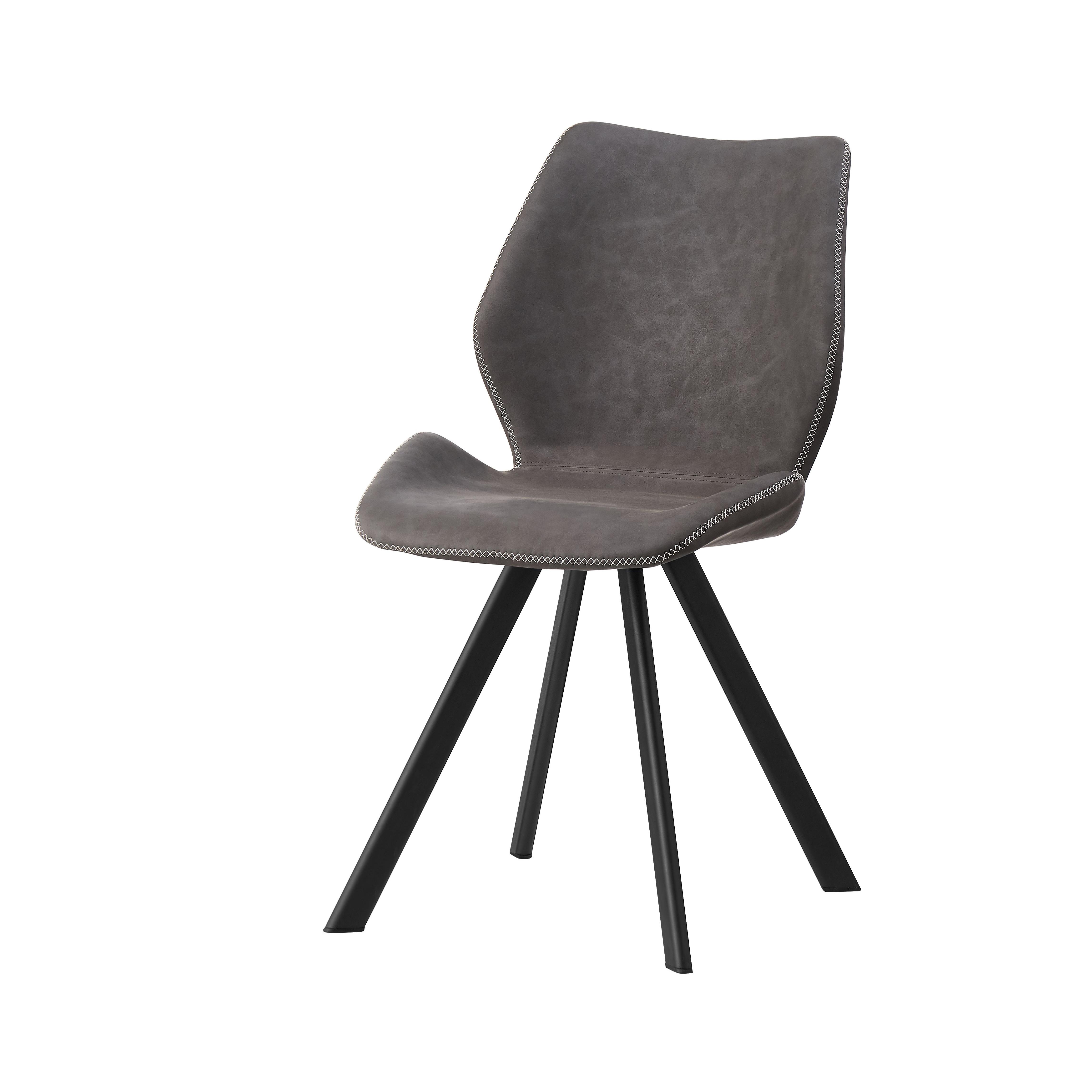 Dining chair Senfan PU modern metal leg comfortable armchair upholstered elegant most popular nordic