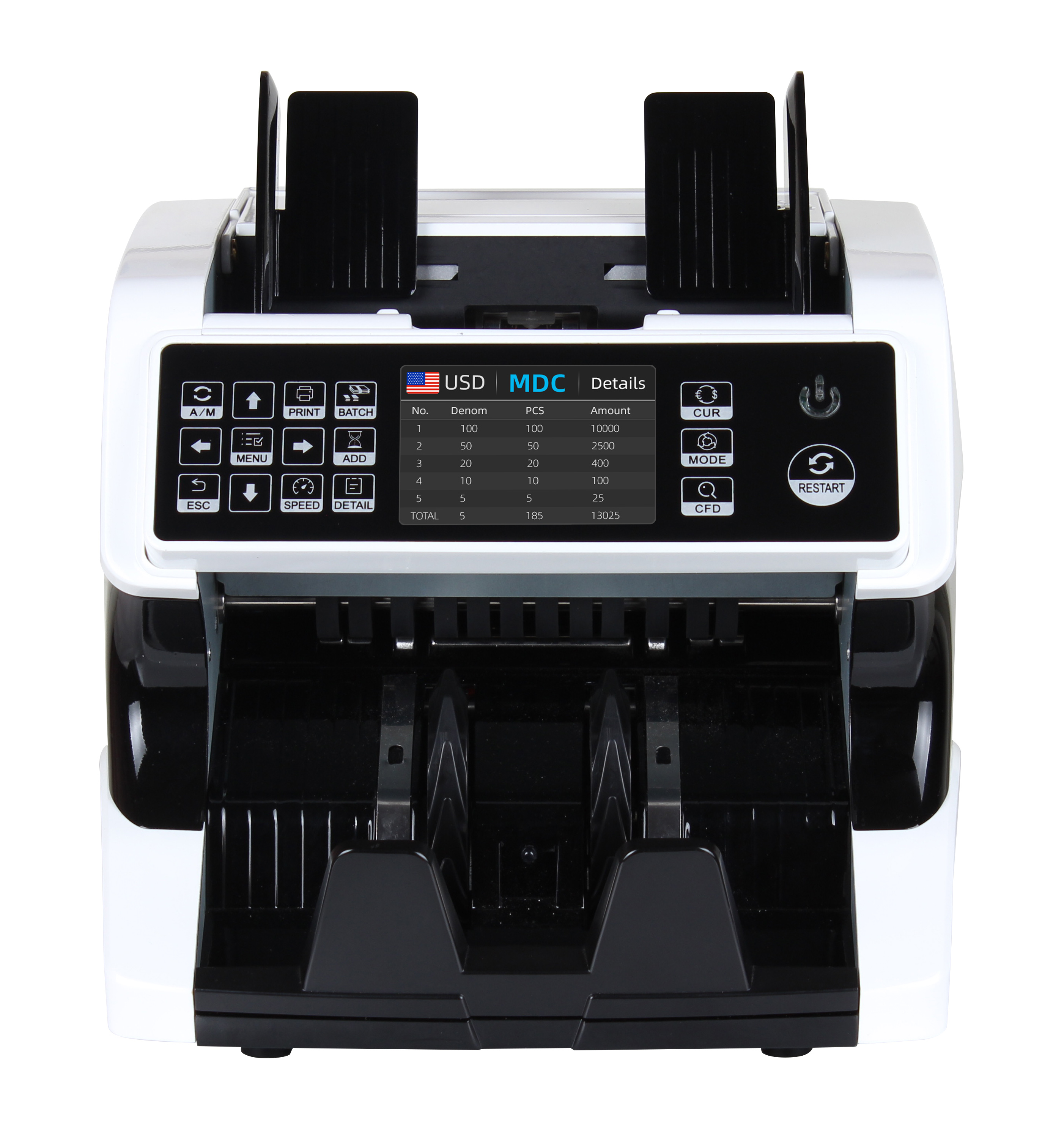 Top Loading Dual CIS Money Detector Mix Value Counter Cash Counting Machine