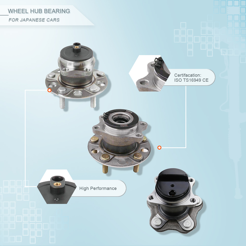 ZPARTNERS Front Wheel Hub Bearing for VW Sagitar/Magotan1.6/8 Octavia/Caddy 1K0 498 621