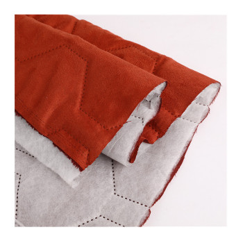 Scuba Plush polyester Soft Luxury Suede Fabric quilting with Foam Backing for garments blankets and air condition quilt