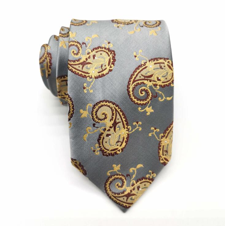 High-end fashion silk tie 8cm cashew flower tie