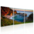 Tropical Sea Landscape Framed Canvas Prints Blue Bay Oil Painting for Bedroom