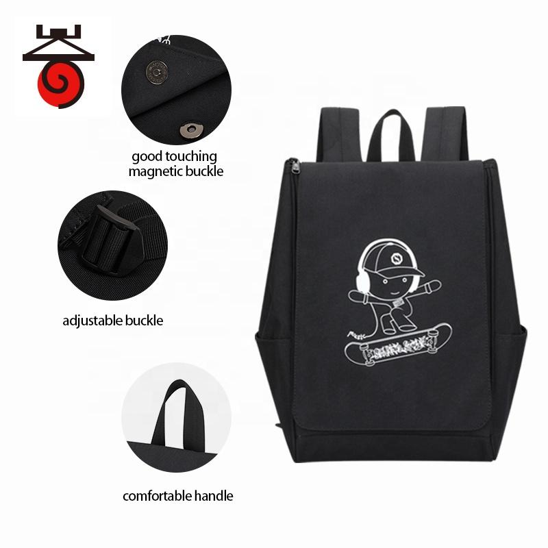 Светящийся Водонепроницаемый черный рюкзак, рюкзак для студентов