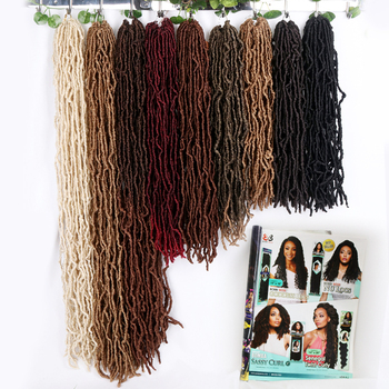 Wholesale Private Label New Julianna Soft Faux locs 613 Loc Synthetic Crochet Braid Hair 14 18 24 36 Inches Faux Soft Locs