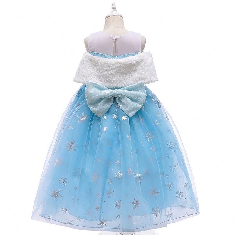 MKMN Детская мода Эльза Анна костюм для девочек шерстяной воротник юбка принцессы милый для девочек летний хлопковый костюм без рукавов