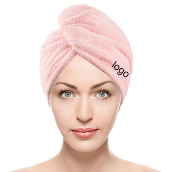 Super Absorbent Customized Logo Women Quick Dry Wrapped Hair Drying Turban Cap Microfiber Hair Towel