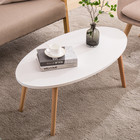 Table White Wooden Coffee Table With 4 Corners