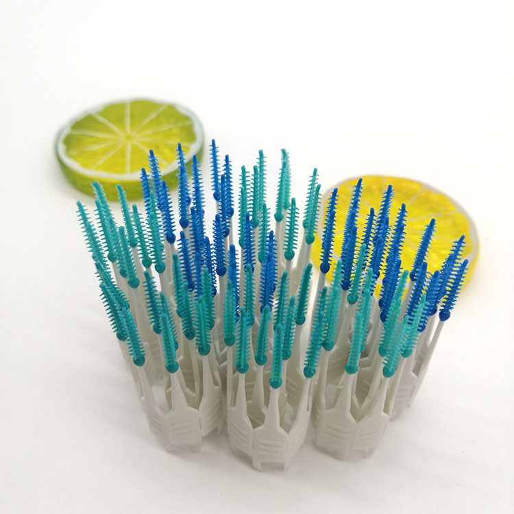 New Design wholesale toothpicks plastic Tooth Cleaning Tool Travel interdental brush Soft Silicone Brush