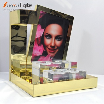 acrylic cosmetic make up display rack stand