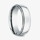 7Mm Width Man Jewelry Wedding Ring Titanium Silver Color